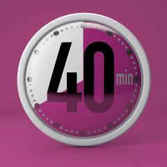 Tempo, orologio, timer, cronometro, 40 minuti
