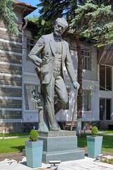 Monument of composer Pyotr Tchaikovsky in Borjomi, Georgia