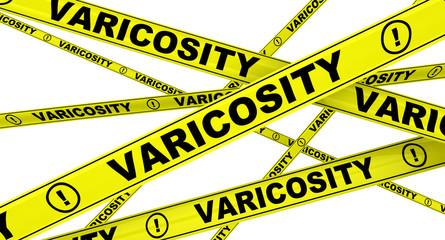 Варикоз (varicosity). Желтая оградительная лента