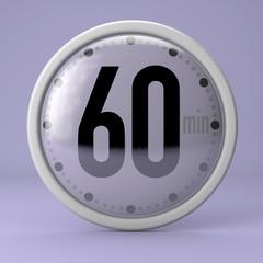 Tempo, orologio, timer, cronometro, 60 minuti