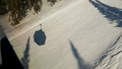 Ski chair lift shadow
