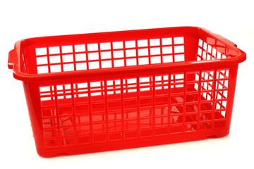 red plastic basket