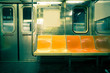 Leinwandbild Motiv Vintage toned image of New York City subway car