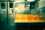 Vintage toned image of New York City subway car - 78786461