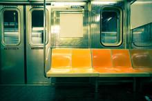 "Постер, картина, фотообои ""Vintage toned image of New York City subway car"""