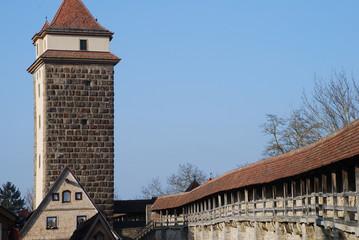 Weißer Turm Rothenburg o.d.Tauber Wehrgang Turmweg