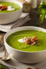 Homemade Green Spring Pea Soup