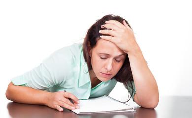Frau versagt im Studium
