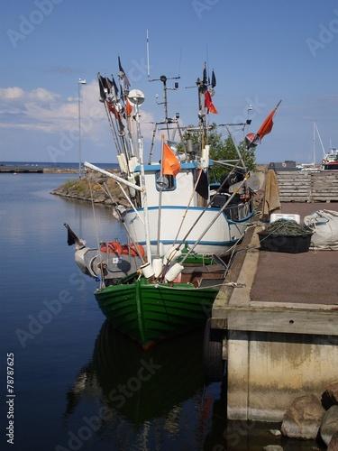 canvas print picture Kleines Fischerboot