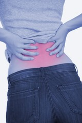 Woman with bad back pain