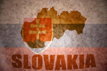 vintage slovakia map
