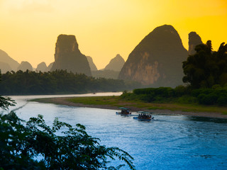 Sunset at Li River