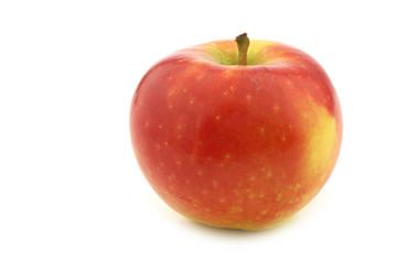 "fresh new Dutch apple variety called ""Kanzi"" on a white backgrou"