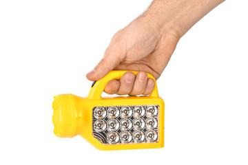Flashlight in hand