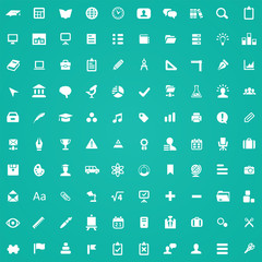 100 education icons.
