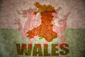 vintage wales map