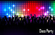 Evening in night club. people against color illumination - 78789440