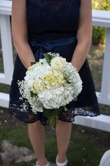 white wedding flower bouquet