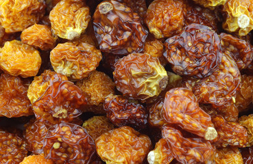Background of dried Cape gooseberries ((Physalis peruviana)