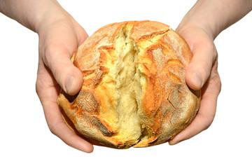 mani con pane spezzato Eucarestia