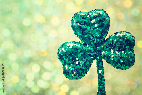 Saint Patricks Day green clover ornament - 78789450