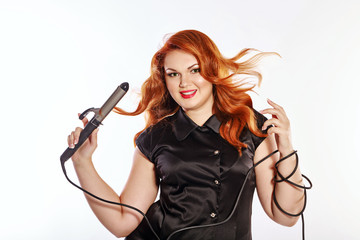Woman hairdresser