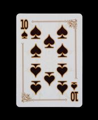 Spielkarten - Poker - Pik Zehn im Spiel