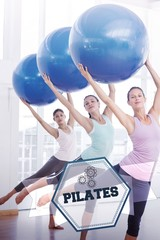 Pilates against hexagon
