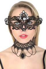 Attractive Young Woman Wearing Mask