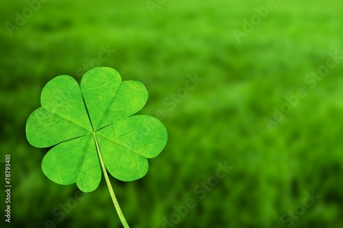 In de dag Cultuur Composite image of four leaf clover