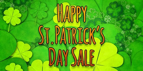Composite image of happy st patricks day sale
