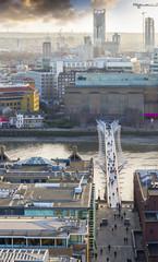 Millennium bridge from above