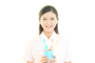 笑顔の歯科衛生士