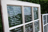 wedding seating chart on glass old window idea poster