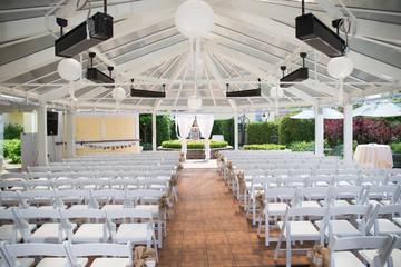wedding ceremony simple setup idea