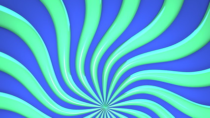 Loopable Abstract Green Wave On Blue Background