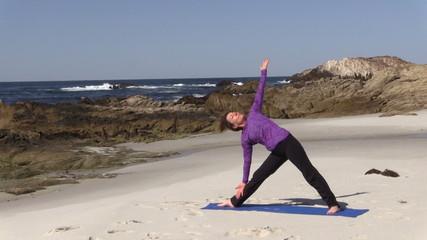 Yoga Practice on Beach