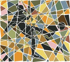 Footballer mosaic