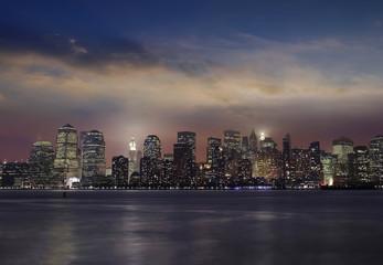 Manhattan skylin by night