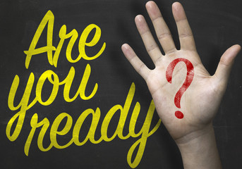 Are You Ready message on blackboard