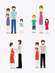 family, design, vector illustration.