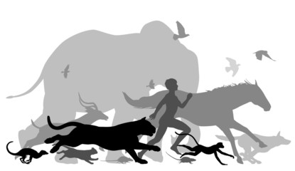 Running with animals