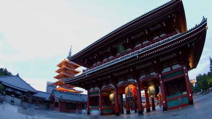 temple, sensoji time lapse