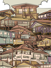 Jumbled housing