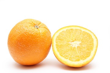 Orange fruit with sliced orange