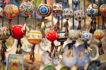 Orinetal Beads Hanged in Grand Bazaar, Istanbul, Turkey
