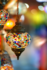 lamps for sale on Grand Bazaar at Istanbul, Turkey.