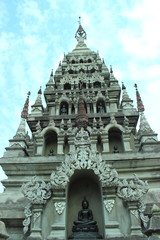Beautiful stucco temple in Thailand.