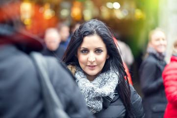 Beautiful young woman smiling.
