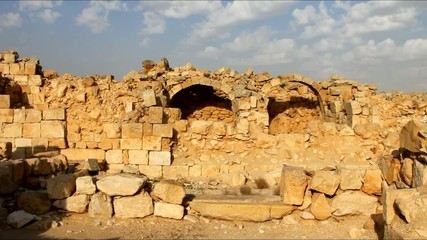 Ancient ruins of old town of Avdat founded  by Nabateans